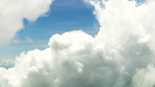 aerial view of patterned cloudscape sky natural light - cumulus cloud stock videos & royalty-free footage