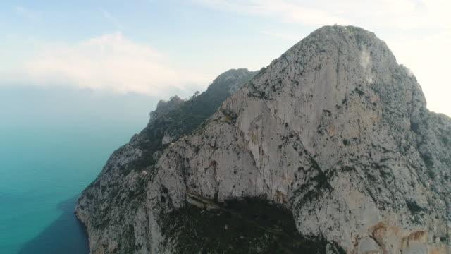 Aerial View of Penon de Ifach at Calpe