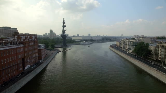 Aerial view of Peter the Great Statue