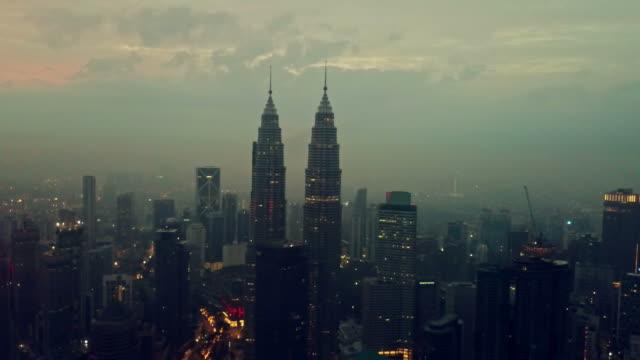 Aerial View of Petronas Towers - Kuala Lumpur - Malaysia