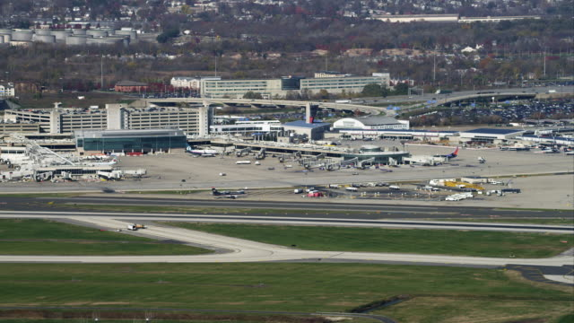 Aerial view of Philadelphia International Airport. Shot in 2011.