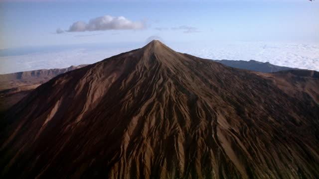 Aerial view of Pico de Teide volcano (Mount Teide) / Tenerife, Canary Islands