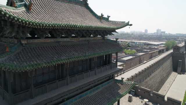 Aerial View of Pingyao Ancient City in China