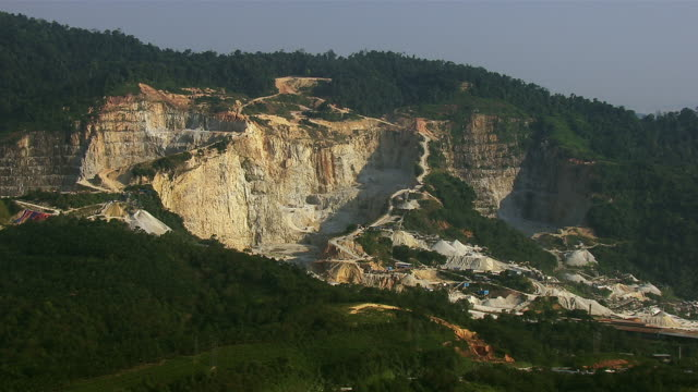 Aerial View Of Pit Mine In Malaysia