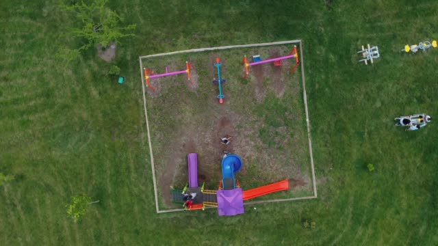 aerial view of playground - playground stock videos & royalty-free footage