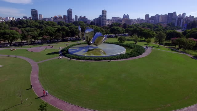 Aerial view of Plaza Naciones Unidas Flower and park