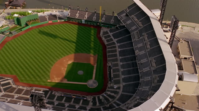 Aerial view of PNC Park baseball stadium / Pittsburgh