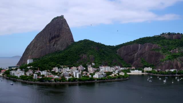 Aerial view of P��o de A����car mountain at Rio de janeiro, Brazil