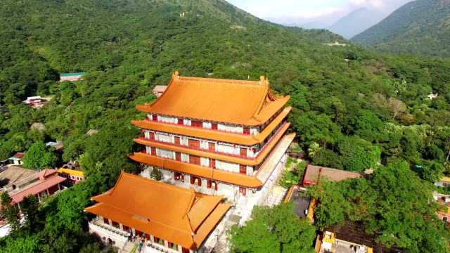 Aerial View of Po Lin Monastery