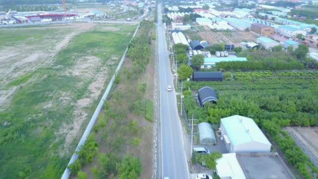 aerial view of polyethylene tunnel and roads in ilsan - polyethylene stock videos and b-roll footage
