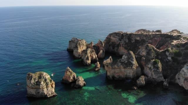 Aerial view of Ponta da Piedade, Algarve