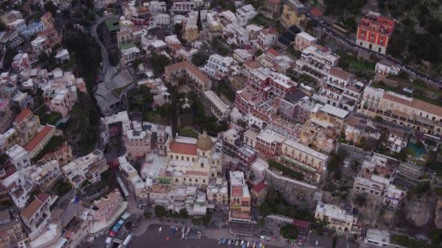 aerial view of Positano coastline