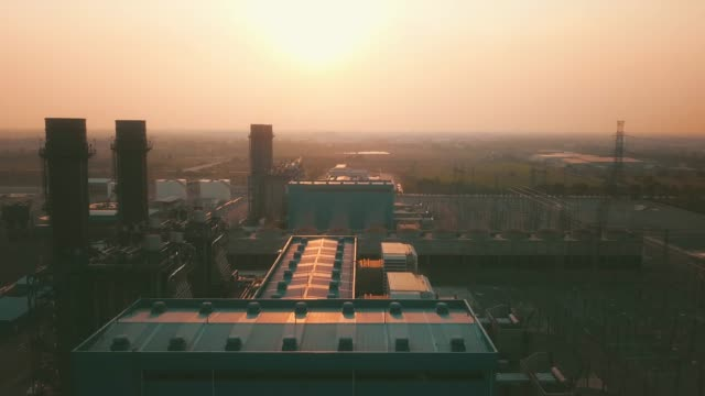aerial view of power plant - automobile industry stock videos & royalty-free footage