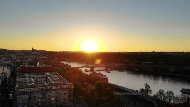 aerial view of prague - czech republic stock videos & royalty-free footage