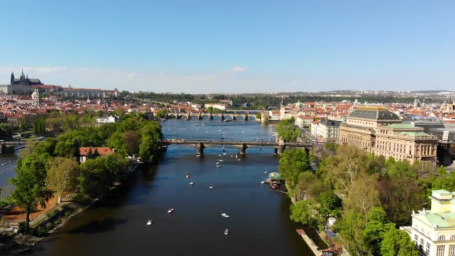 aerial view of prague - european culture stock videos & royalty-free footage
