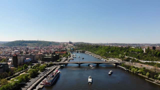 aerial view of prague - town stock videos & royalty-free footage
