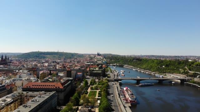 プラハの空中風景 - ヨーロッパ点の映像素材/bロール