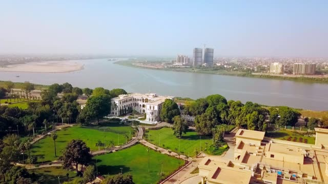 aerial view of presidential palace of khartoum - sudan - east africa stock videos & royalty-free footage
