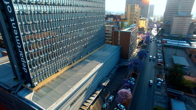 aerial view of pretoria cbd, south africa - pretoria stock videos & royalty-free footage