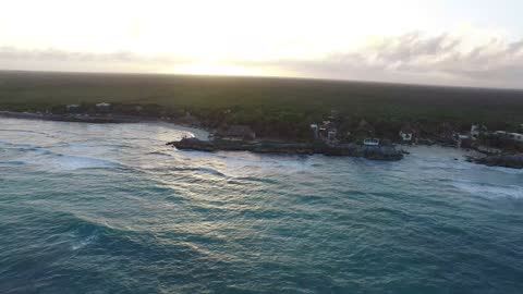 aerial view of punta allen on june, 2019 tulum, mexico. punta allen is the largest village in the sian ka'an biosphere reserve at the end of the boca... - 2010 2019 stock videos & royalty-free footage