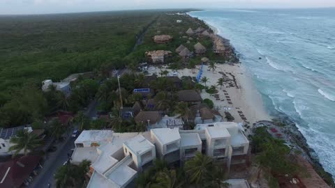 aerial view of punta allen on june, 2019 tulum, mexico. punta allen is the largest village in the sian ka'an biosphere reserve at the end of the boca... - 12 13 years stock videos & royalty-free footage