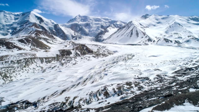 aerial view of qinghai - snowcapped mountain stock videos & royalty-free footage