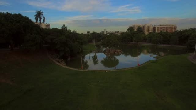 Aerial view of Quinta Da Boa Vista Park in Rio De Janeiro Brazil