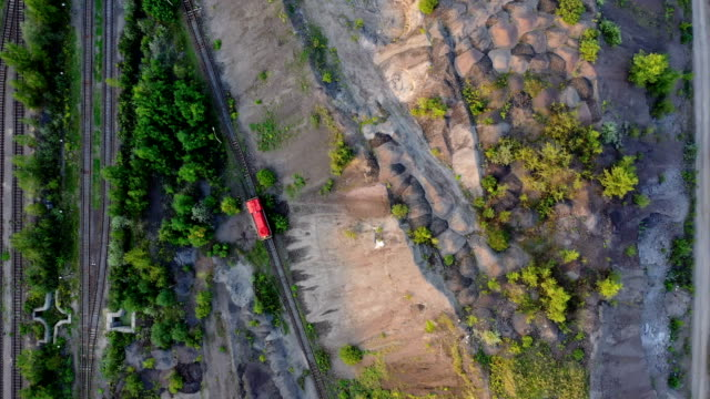 aerial view of railroad - photography themes stock videos & royalty-free footage