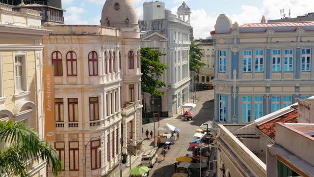 vídeos de stock, filmes e b-roll de vista aérea da cidade do recife, pernambuco, brasil - cor vibrante