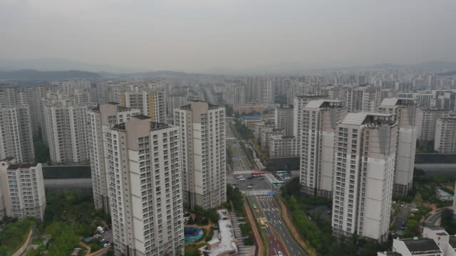 Aerial View of Residental District in Pangyo techno valley