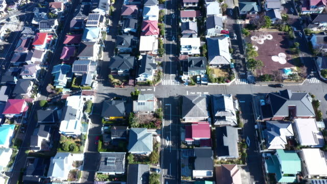 aerial view of residential area - two story structure stock videos & royalty-free footage