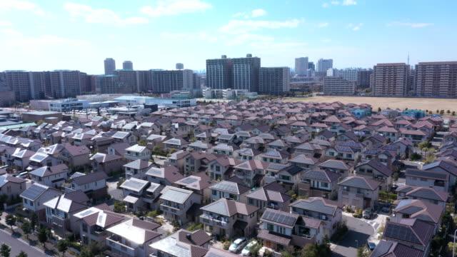 住宅地の上空からの眺め - 住宅地点の映像素材/bロール