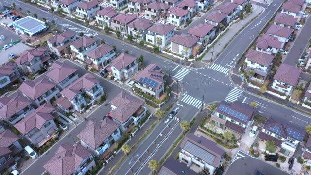 aerial view of residential area - aircraft point of view stock videos & royalty-free footage
