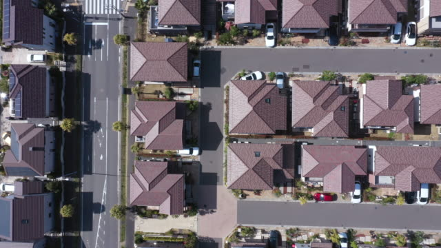 aerial view of residential area - hometown stock videos and b-roll footage