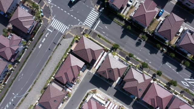luftaufnahme von wohngebiet - ziegel stock-videos und b-roll-filmmaterial