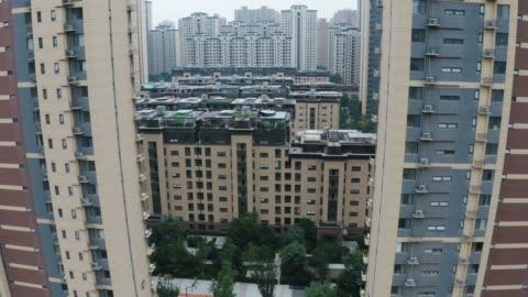 住宅地の空中写真 - 階点の映像素材/bロール