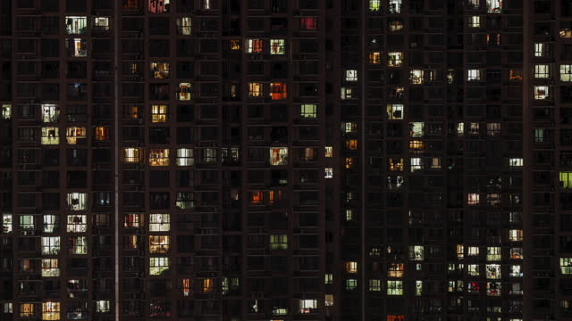 t/l aerial view of residential building, day to night transition - housing development stock videos & royalty-free footage