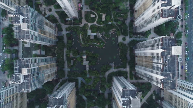 aerial view of residential building - 集合住宅点の映像素材/bロール