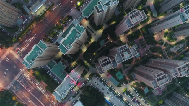 aerial view of residential building - computer part stock videos and b-roll footage