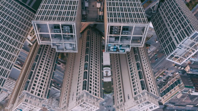 aerial view of residential building - upside down stock videos & royalty-free footage