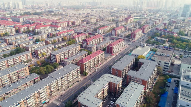 aerial view of residential building - population explosion stock videos & royalty-free footage