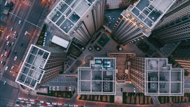 aerial view of residential buildings - liyao xie stock videos & royalty-free footage