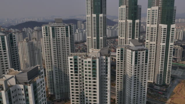 Aerial view of Residential district in Namdong-gu area in Incheon