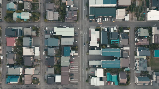aerial view of residential district - housing development stock videos & royalty-free footage