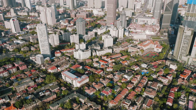 aerial view of residential in tianjin - liyao xie stock videos & royalty-free footage