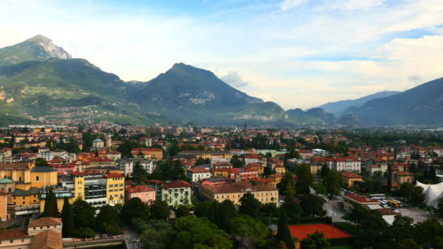 Aerial view of Riva town Lake Garda Verona