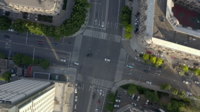 aerial view of road corss - liyao xie stock videos & royalty-free footage