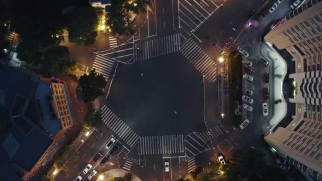 aerial view of road cross - liyao xie stock videos & royalty-free footage
