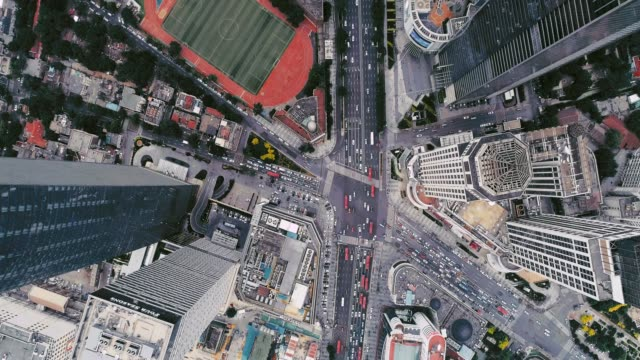 aerial view of road cross - shanghai stock videos & royalty-free footage