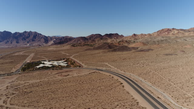 Aerial view of road in west coast